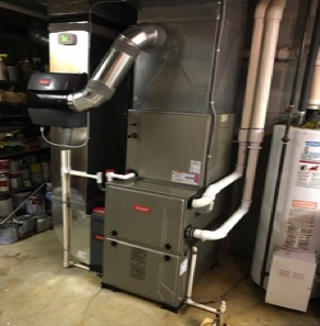Furnace Replacement with a Bryant furnace, Bryant Humdifier and Bryant air cleaner in Sherwood Park