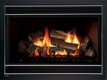 Gas Fireplace after a Gas Fireplace Clean  and repair in Sherwood Park