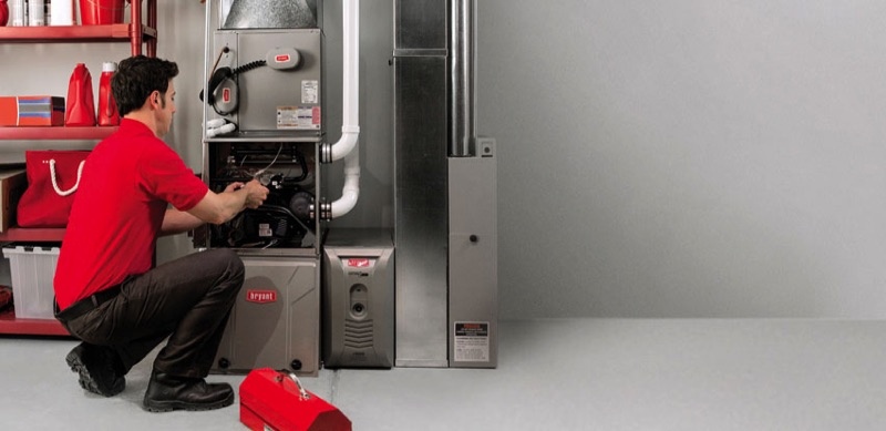 Heating and air conditioning repair by Global Heating Service technician
