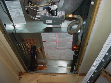Mobile Home Furnace ready for furnace repair in Edmonton